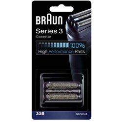 Cassette Braun 32B (grille et couteau) - Noir
