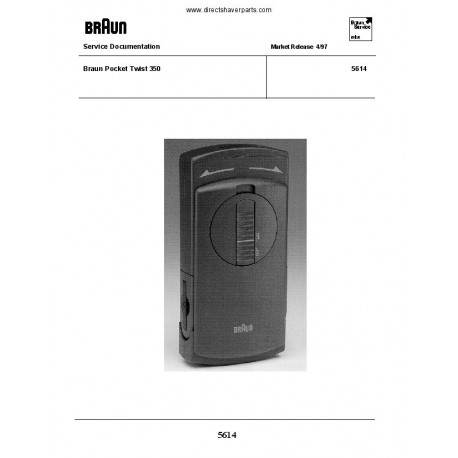 Braun 5614 Service Manual
