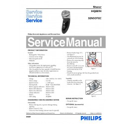 Philips HQ8894 Service Manual
