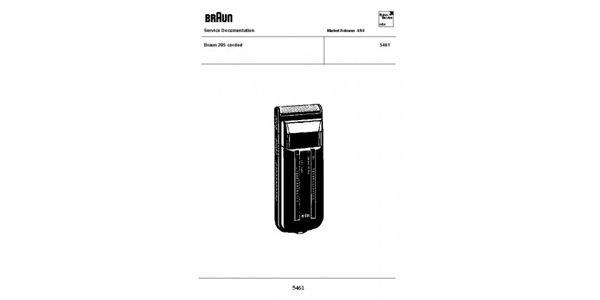 Braun 5461 Service Manual available