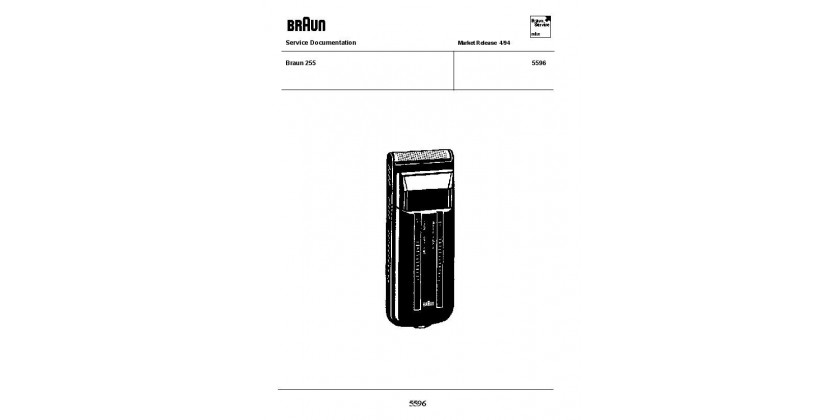 Braun 5596 Service Manual released