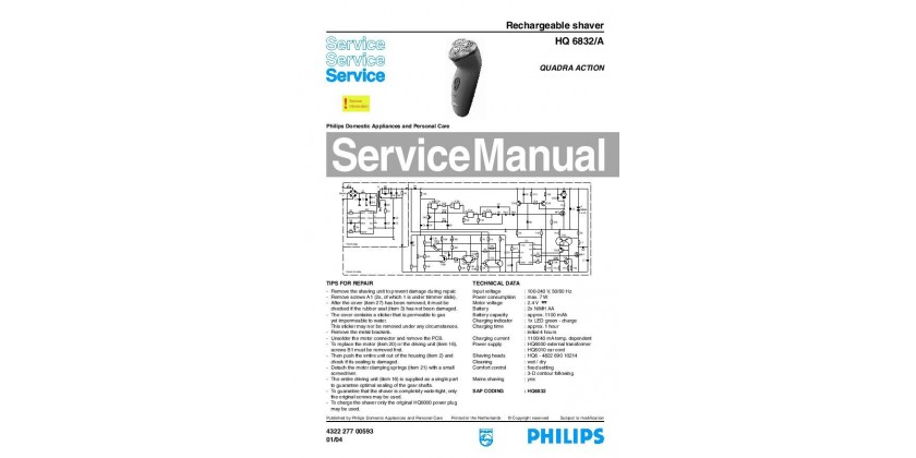 Philips HQ6832 Service Manual