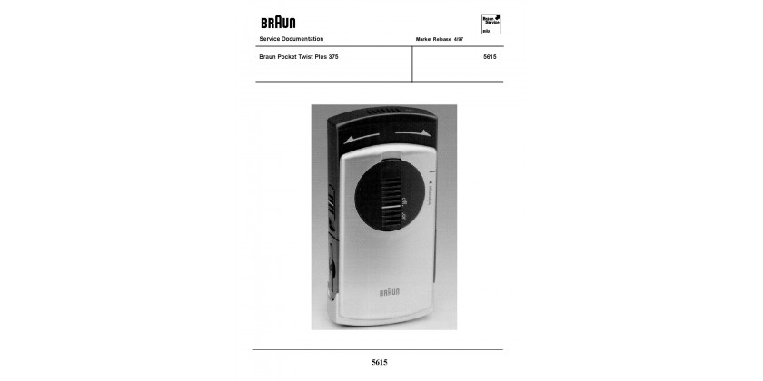 Braun 5615 Service Manual